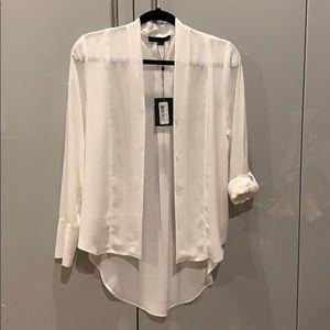 Alexander wang blouse white , size 8